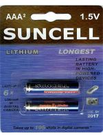 Suncell Extreme Lithium AAA Battery: 2 Pack