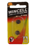 Wincell AG9 Coin Battery: 2 Pack